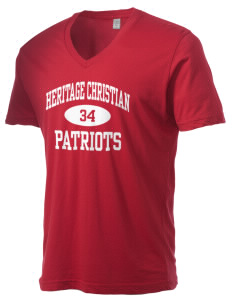 Heritage Christian School Patriots Alternative Men's 3.7 oz Basic V-Neck T-Shirt