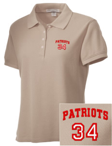 Heritage Christian School Patriots Embroidered Women's Performance Plus Pique Polo