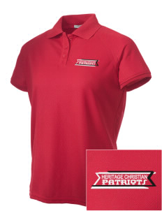Heritage Christian School Patriots Embroidered Women's Technical Performance Polo