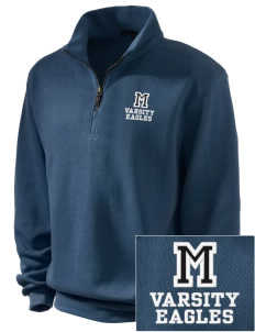 Moulton-Udell Community School Eagles Embroidered Men's 1/4-Zip Sweatshirt