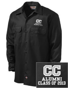 Community Christian School Crusaders Embroidered Dickies Men's Long-Sleeve Workshirt