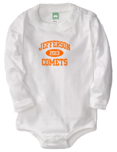 Jefferson Elementary School Comets  Baby Long Sleeve 1-Piece with Shoulder Snaps