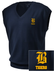 Brawley Middle School Tigers Embroidered Men's Fine-Gauge V-Neck Sweater Vest
