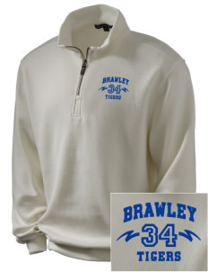 Brawley Middle School Tigers Embroidered Men's 1/4-Zip Sweatshirt
