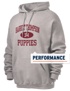 Harriet Thompson Elementary School Puppies Russell Men's Dri-Power Hooded Sweatshirt
