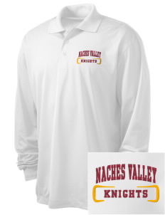 Naches Valley Middle School Knights Embroidered Men's Long Sleeve Micropique Sport-Wick Sport Shirt