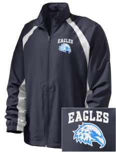 Bethlehem Lutheran School Eagles  Embroidered Men's Full Zip Warm Up Jacket