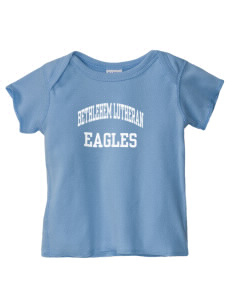 Bethlehem Lutheran School Eagles  Baby Lap Shoulder T-Shirt