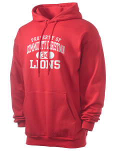Community Christian School Lions Men's 7.8 oz Lightweight Hooded Sweatshirt
