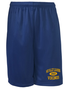 "Mid Valley Learning Center Vikings Long Mesh Shorts, 9"" Inseam"