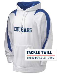 Coleman Prep School Cougars Holloway Men's Sports Fleece Hooded Sweatshirt with Tackle Twill