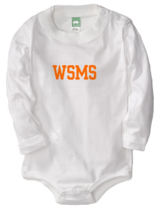 West Seattle Montessori School Globes  Baby Long Sleeve 1-Piece with Shoulder Snaps