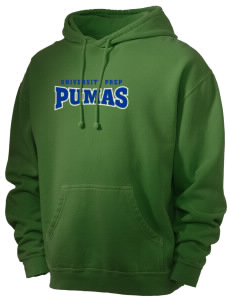 University Prep School Pumas Men's 80/20 Pigment Dyed Hooded Sweatshirt