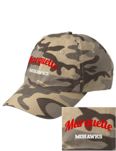 Marquette High School Mohawks Embroidered Camouflage Cotton Cap