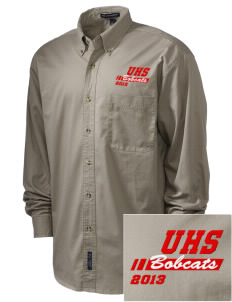 Union High School Bobcats Embroidered Men's Twill Shirt