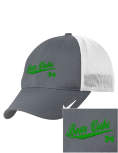 Belmont Elementary School Bear Cubs Embroidered Nike Golf Mesh Back Cap