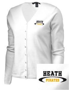 Heath Elementary School Pirates Embroidered Women's Stretch Cardigan Sweater