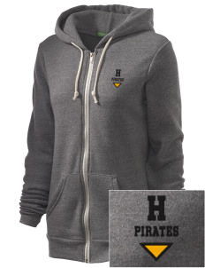 Heath Elementary School Pirates Embroidered Alternative Unisex The Rocky Eco-Fleece Hooded Sweatshirt