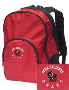 Agua Caliente Elementary School Bears Embroidered Value Backpack