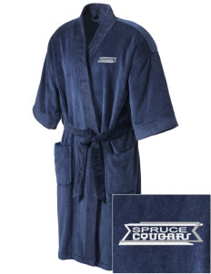 Spruce Elementary School Cougars Embroidered Terry Velour Robe