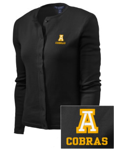 Albany Middle School Cobras Embroidered Women's Cardigan Sweater