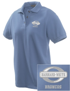 Barnard-White Middle School Broncos Embroidered Women's Pique Polo