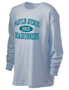 Marylin Avenue Elementary School Roadrunners Kid's 6.1 oz Long Sleeve Ultra Cotton T-Shirt