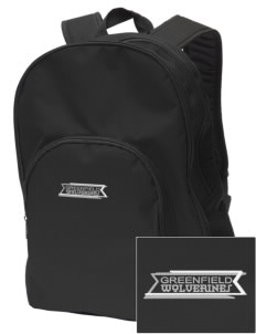 Greenfield Elementary School Wolverines Embroidered Value Backpack