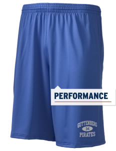 "Guttenberg Elementary School Pirates Holloway Men's Performance Shorts, 9"" Inseam"