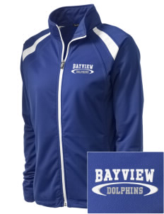 Bayview Elementary School Dolphins Embroidered Women's Tricot Track Jacket