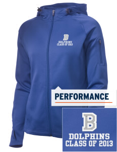 Bayview Elementary School Dolphins Embroidered Women's Tech Fleece Full-Zip Hooded Jacket