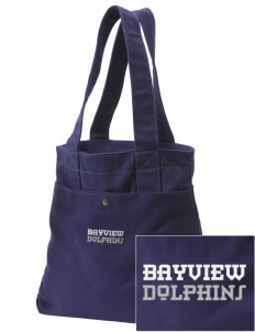Bayview Elementary School Dolphins Embroidered Alternative The Berkeley Tote