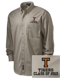 Tom Elementary School Tigers Embroidered Men's Twill Shirt