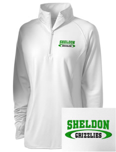 Sheldon Elementary School Grizzlies Embroidered Ladies Stretched Half-Zip Pullover