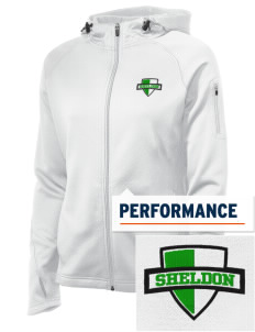Sheldon Elementary School Grizzlies Embroidered Women's Tech Fleece Full-Zip Hooded Jacket