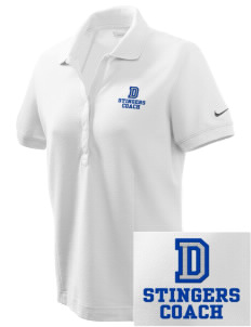 Dover School Stingers Embroidered Nike Women's Pique Golf Polo