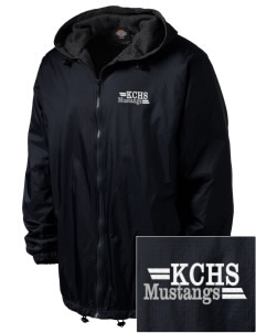 King City High School Mustangs Embroidered Dickies Men's Fleece-Lined Hooded Jacket