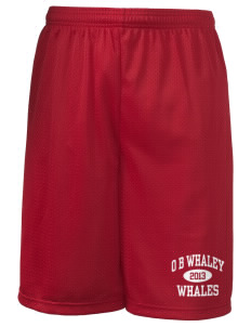 "O B Whaley Elementary School Whales Long Mesh Shorts, 9"" Inseam"