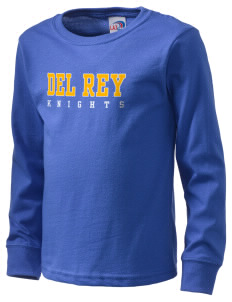 Del Rey Elementary School Knights  Kid's Long Sleeve T-Shirt