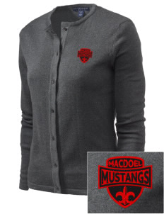 MacDoel Elementary School Mustangs Embroidered Women's Cardigan Sweater