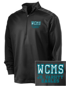 Ware County Magnet School Eagles Embroidered Nike Men's Golf Dri-Fit 1/2 Zip