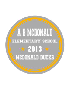 A B McDonald Elementary School McDonald Ducks Sticker