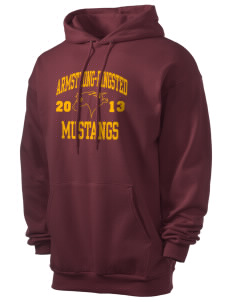 Armstrong-Ringsted Middle School Mustangs Men's 7.8 oz Lightweight Hooded Sweatshirt