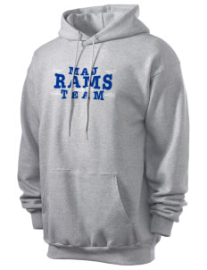 M A Jones Elementary School Rams Men's 7.8 oz Lightweight Hooded Sweatshirt