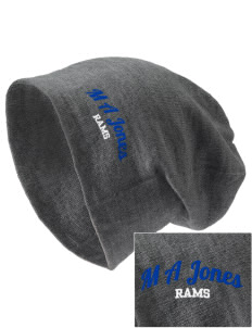 M A Jones Elementary School Rams Embroidered Slouch Beanie