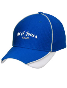 M A Jones Elementary School Rams Embroidered New Era Contrast Piped Performance Cap