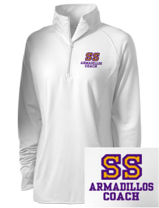 San Saba Intermediate School Armadillos Embroidered Ladies Stretched Half-Zip Pullover