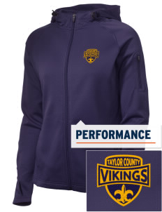 Taylor County Middle School Vikings Embroidered Women's Tech Fleece Full-Zip Hooded Jacket