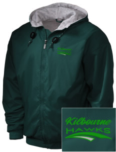 Kilbourne School Hawks Embroidered Holloway Men's Hooded Jacket