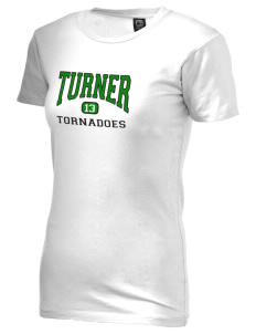 Turner High School Tornadoes Alternative Women's Basic Crew T-Shirt